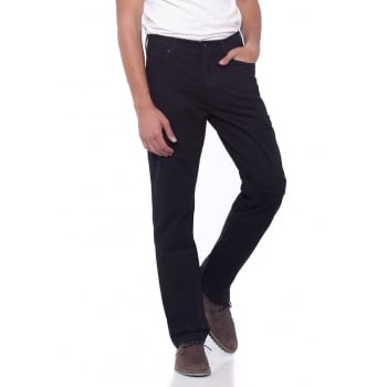 Wrangler Texas Regular Fit Stretch Twill Soft Fabric Jeans Black