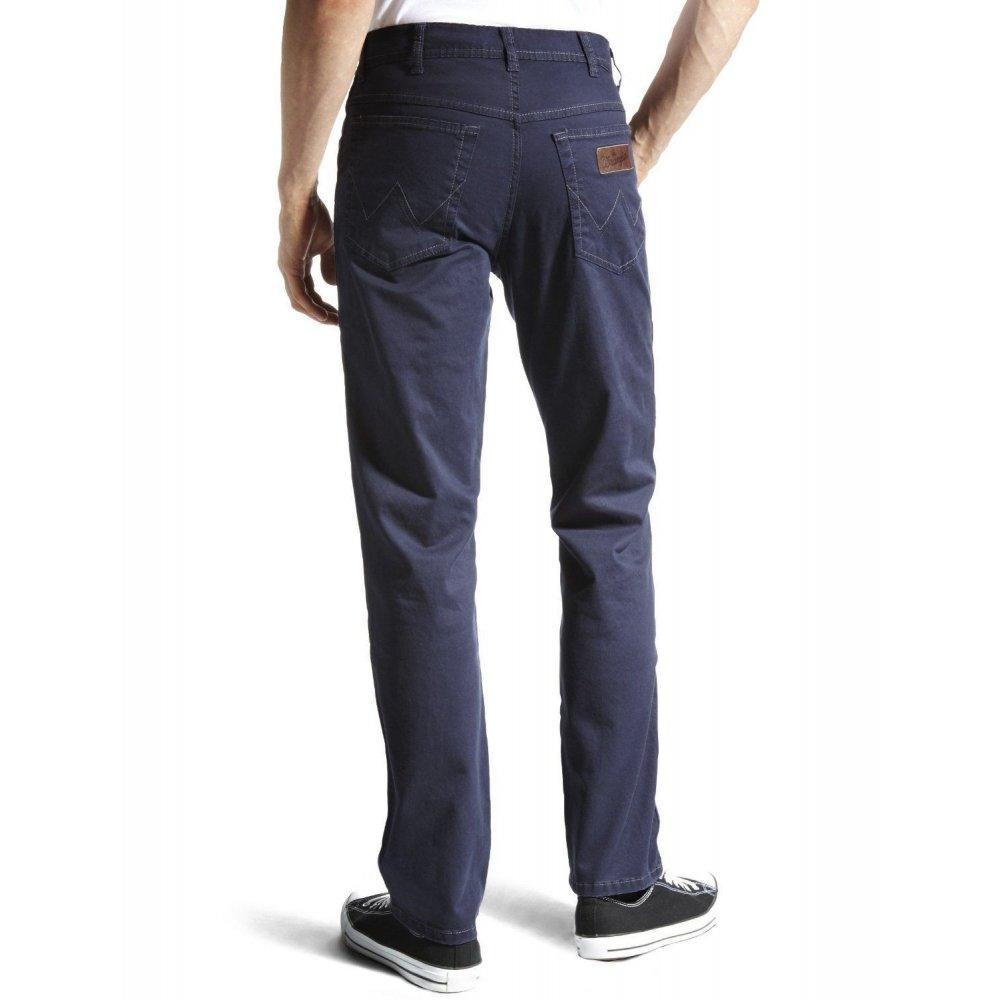 wrangler texas 36 leg stretch twill jeans navy. Black Bedroom Furniture Sets. Home Design Ideas