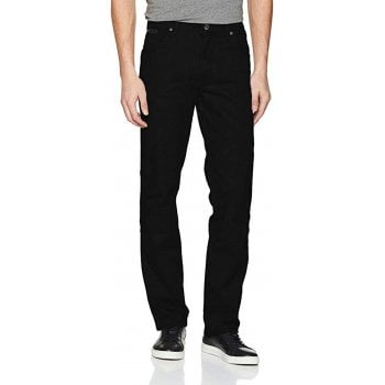 Wrangler Texas Stretch Regular Fit Moleskin Jeans Black