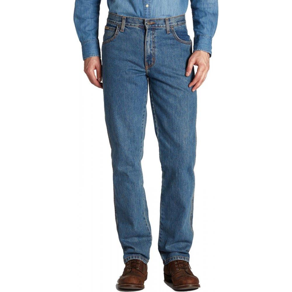 wrangler texas regular fit stretch 36 leg jeans stonewash blue. Black Bedroom Furniture Sets. Home Design Ideas