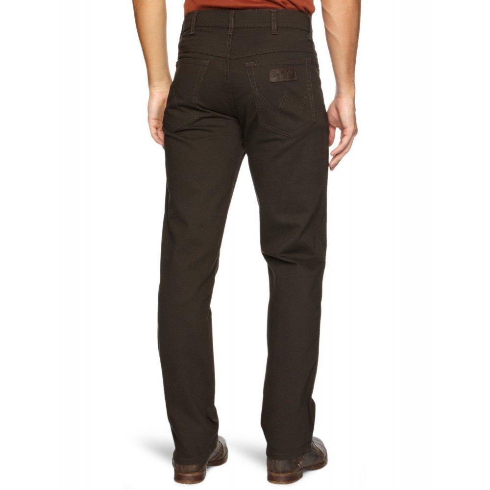 wrangler texas stretch regular fit moleskin jeans dark teak. Black Bedroom Furniture Sets. Home Design Ideas