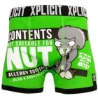 Xplicit Men's Funny Rude Allergies Geek Cartoon Novelty Boxer Shorts Trunks Classic Green