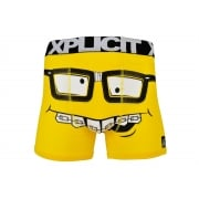 Xplicit Men's Funny Rude Nerd Geek Cartoon Novelty Boxer Shorts Trunks Dandeliion