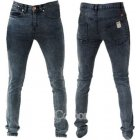 Designer Super Skinny Leg Stretch Jeans Acid Black