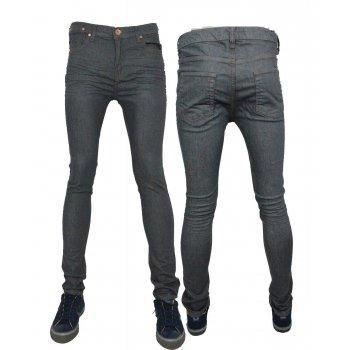 Zico Jeans Designer Super Skinny Leg Stretch Jeans Grey