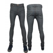 Designer Super Skinny Leg Stretch Jeans Grey