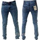 Designer Super Skinny Leg Stretch Jeans Jet Snow Wash