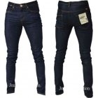 Designer Super Skinny Leg Stretch Jeans Raw Denim