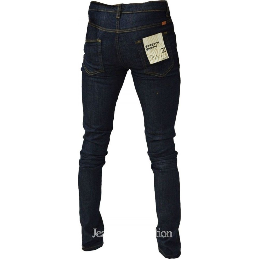 Zico Designer Super Skinny Leg Stretch Jeans Raw Denim