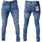 Designer Super Skinny Leg Stretch Jeans Vintage Lightwash